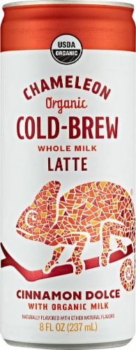 Chameleon Organic Cinnamon Dolce Cold-Brew Latte Perspective: front