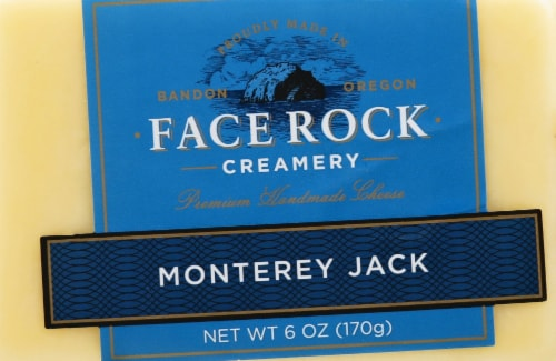 Face Rock Monterey Jack Cheese Perspective: front