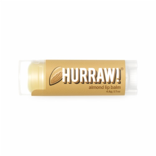 Hurraw! Balm  Lip Balm   Almond Perspective: front