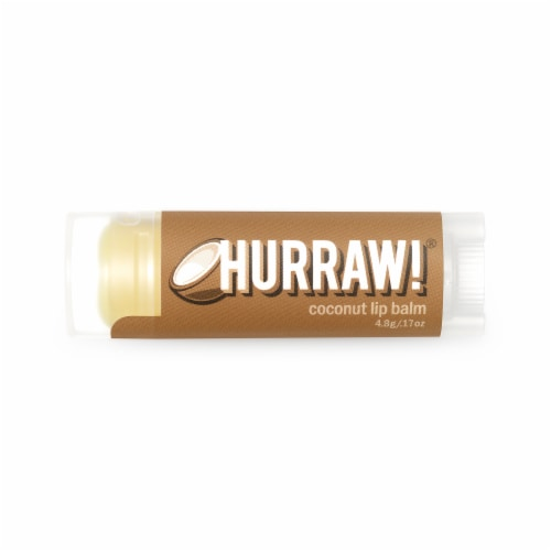Hurraw! Balm  Lip Balm   Coconut Perspective: front