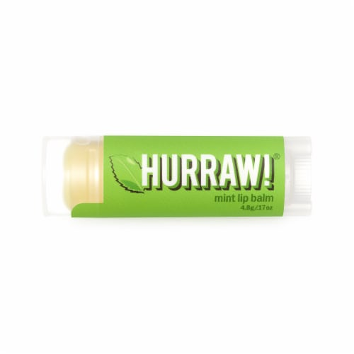 Hurraw! Balm  Lip Balm   Mint Perspective: front