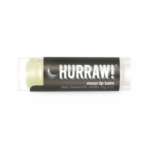 Hurraw! Balm  Moon Lip Balm   Blue Chamomile Vanilla Perspective: front