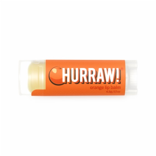 Hurraw! Balm  Lip Balm   Orange Perspective: front