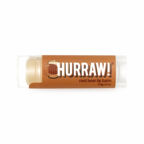 Hurraw! Balm  Lip Balm   Root Beer Perspective: front