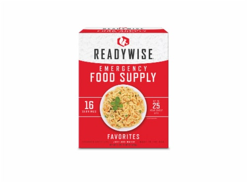 ReadyWise Favorites Emergency Food Supply Perspective: front