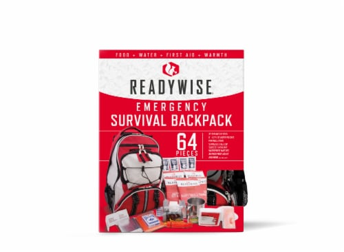 Wise Company 5-Day Survival Backpack - Red Perspective: front