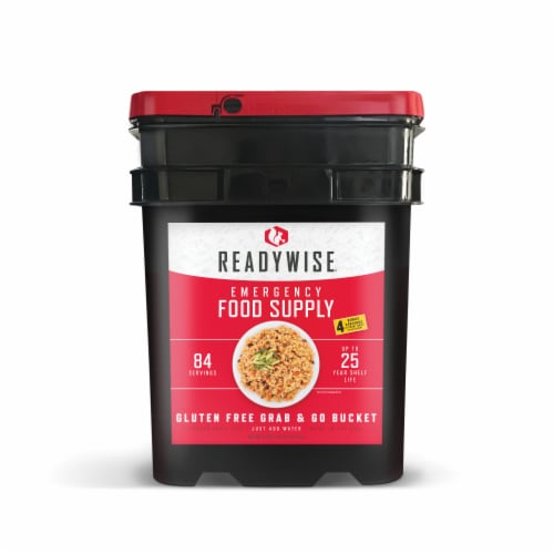 ReadyWise Gluten Free Grab and Go Emergency Food Supply Perspective: front