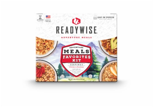 ReadyWise Adventure Meal Favorites Kit Perspective: front