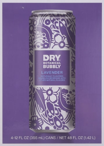 Dry Botanical Bubbly Lavender Perspective: front