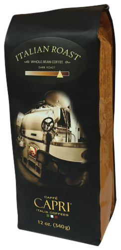 Caffe Capri Italian Roast Whole Bean Coffee Perspective: front