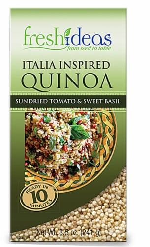 FreshIdeas  Italia Inspired Quinoa with Sundried Tomatoes & Sweet Basil Perspective: front