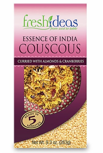 FreshIdeas  Essence of India Couscous Curried with Almonds & Cranberries Perspective: front