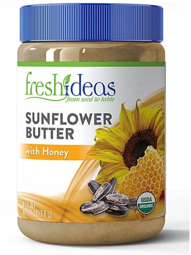 FreshIdeas  Organic Sunflower Butter with Honey Perspective: front