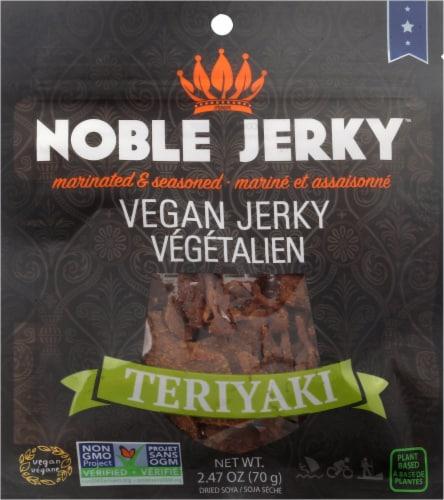 Noble Jerky Teriyaki Vegan Jerky Perspective: front