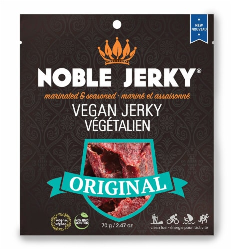 Noble Jerky Original Vegan Jerky Perspective: front