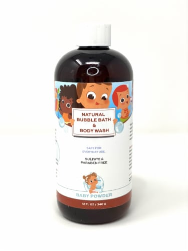 Punkin Butt Soft and Bubbly Bubble Wash 12 oz - Baby Powder Perspective: front