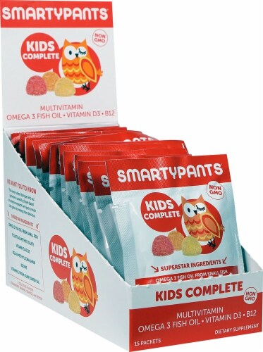 SmartyPants  Kids Complete On The Go Gummy Vtiamin Travel Packs Perspective: front