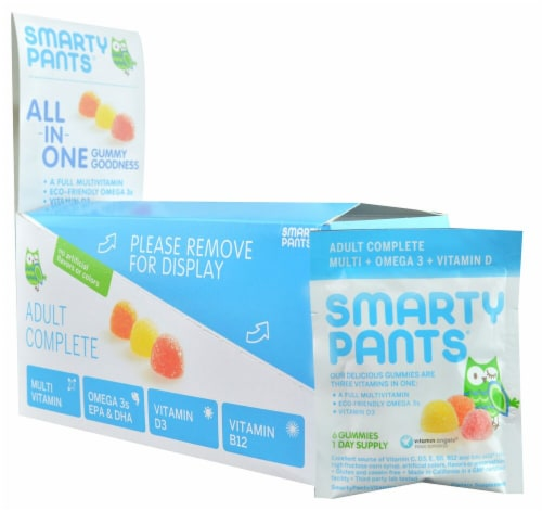 SmartyPants  Adult Complete Gummy Vitamin Travel Packs Perspective: front