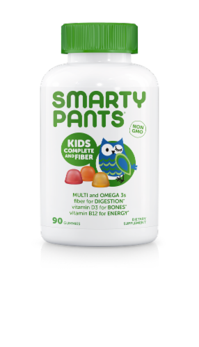 SmartyPants Kids Complete and Fiber Multivitamin Gummies Perspective: front