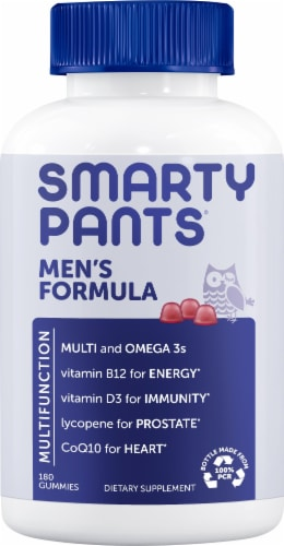 SmartyPants  Men's Mo Complete Multivitamin Perspective: front