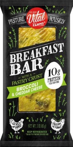 Vital Farms® Broccoli Cheddar Breakfast Bar Perspective: front