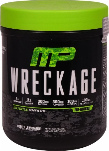 MusclePharm  Wreckage™ Pre-Workout   Berry Lemonade Perspective: front