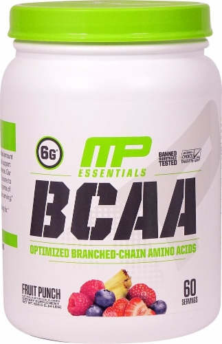 MusclePharm  BCAA Essentials Powder   Fruit Punch Perspective: front