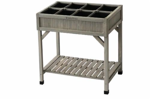 VegTrug Herb Garden (divider) Gray Wash FSC 100% Perspective: front