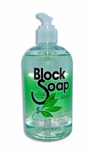 Block Soap West Beach Bayberry Liquid Hand Soap Perspective: front