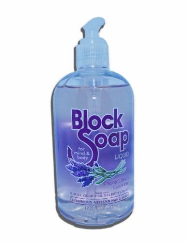 Block Soap Crescent Beach Lavender Liquid Hand Soap Perspective: front