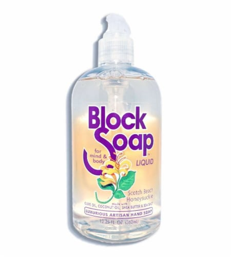 Block Soap Scotch Beach Honeysuckle Liquid Hand Soap Perspective: front