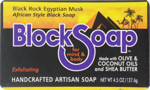 Block Soap Black Rock Egyptian Musk Perspective: front