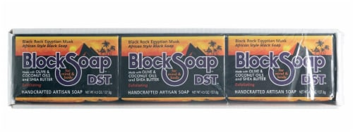 Block Soap Black Rock Egyptian Musk Bar Soap Perspective: front