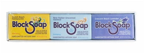 Block Soap Assorted Bar Soap Perspective: front