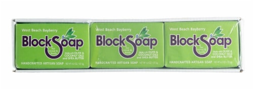 Block Soap West Beach Bayberry Bar Soap Perspective: front