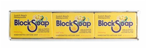 Block Soap Scotch Beach Honeysuckle Bar Soap Perspective: front