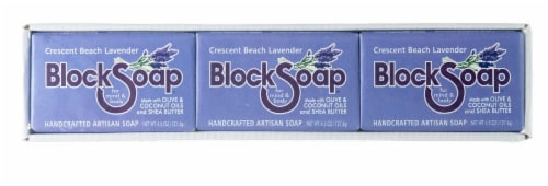 Block Soap Crescent Beach Lavender Bar Soap Perspective: front
