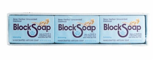 Block Soap New Harbor Unscented Oatmeal Bar Soap Perspective: front