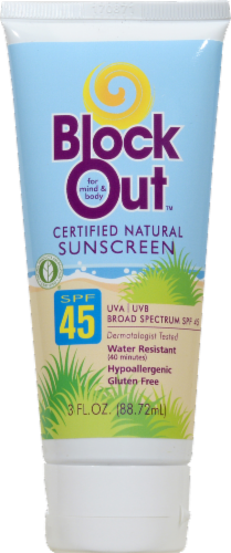 BlockOut Sunscreen Lotion SPF 45 Perspective: front