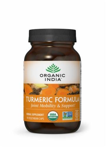 Organic India Turmeric Formula Veg Capsules Perspective: front