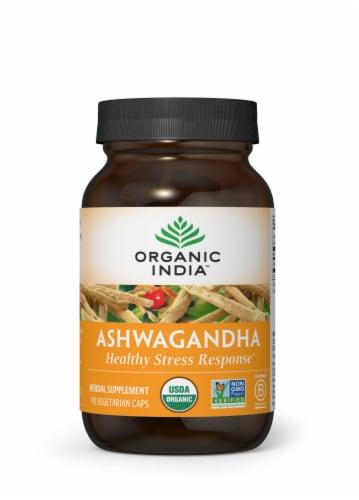 Organic India Ashwagandha Vegetarian Capsules 800mg Perspective: front