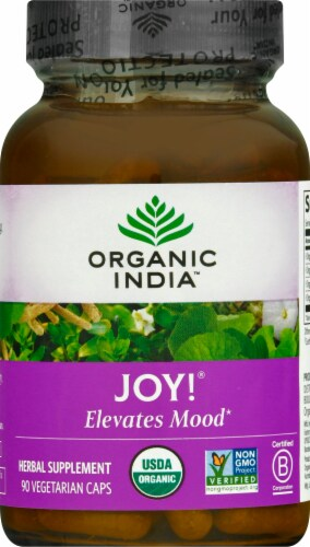 Organic India Joy Herbal Supplement Capsules Perspective: front