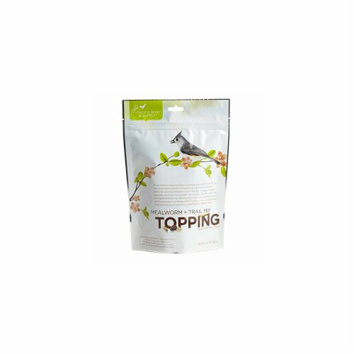 Pacific Bird & Supply Mealworm Trail Mix Topping, 6.5 oz Perspective: front