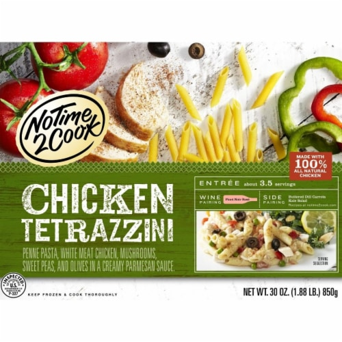 No Time 2 Cook Chicken Tetrazzini Frozen Meal Perspective: front