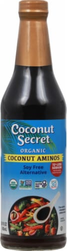 Coconut Secret Raw Coconut Aminos Soy-Free Seasoning Sauce Perspective: front