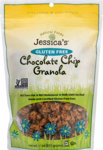 Jessica's Natural Foods Gluten Free Chocolate Chip Granola Perspective: front