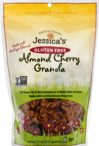 Jessica's Natural Foods Gluten Free Almond Cherry Granola Perspective: front