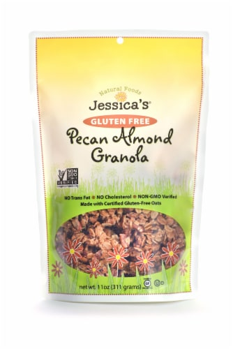 Jessica's Natural Foods Gluten Free Pecan Almond Granola Perspective: front