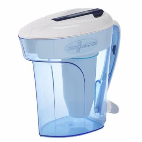 ZeroWater® Ready-Pour Pitcher with Water Quality Meter Perspective: front