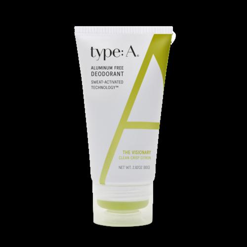 Type:A® The Visionary Clean Crisp Citron Aluminum Free Deodorant Cream Perspective: front